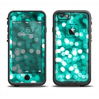 The Unfocused Teal Orbs of Light Apple iPhone 6 LifeProof Fre Case Skin Set
