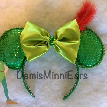 Disney inspired Peter Pan Minnie Ears / Mickey Ears