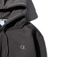 Champion autumn and winter small logo embroidered men and women hoodie hooded sweater coat Dark gray