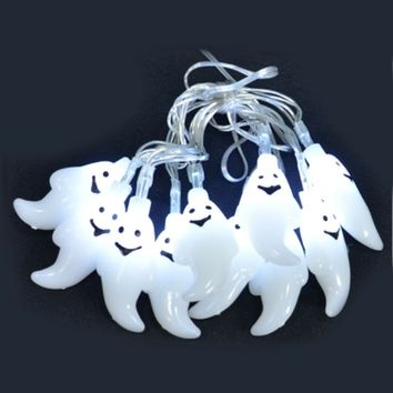 Ghost LED String Light Garland for Halloween - 5-ft