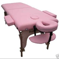BestMassage Two Fold Pink Portable Massage Table