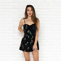 Because of You Romper in Black