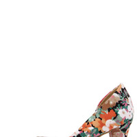 CL by Laundry Angelina Floral Print D'Orsay Kitten Heels