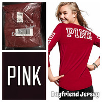 VS PINK RELAXED FIT FOOTBALL TEE Large