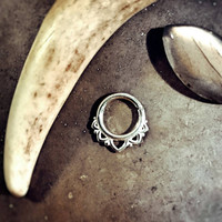 Princess Sterling Silver Septum Ring