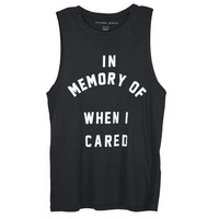 In Memory of when I cared tank by FreshSelect on Etsy