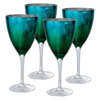 Artland Inc. Peacock Wine Glasses - Set of 4 | www.hayneedle.com