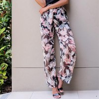 Print Chiffon Stylish Beach Pants [52173111322]