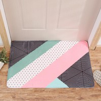 Autumn Fall welcome door mat doormat Geometric Bathroom Carpet Nordic Rugs For Living Room Anti-slip Kitchen Carpet  For Bath Flannel Alfombra Bedroom Mat AT_76_7