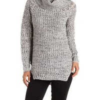 Marled Cowl Neck Tunic Sweater by Charlotte Russe