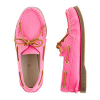 Girls' Sperry Top-Sider® Authentic Original 2-eye boat shoes in twill - flats & moccasins - Girl's shoes - J.Crew