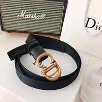 """Dior"" Fashion Nylon Rope Letter Metal Buckle Belt Women All-match Waistband"