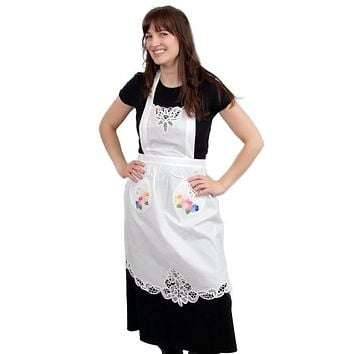 Lace Applique Tulip Apron
