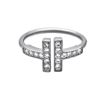 Dainty Adjustable Ring with Cubic Zirconia