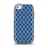 The Navy & White Seamless Morocan Pattern Apple iPhone 5c Otterbox Symmetry Case Skin Set