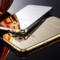 """Luxury Aluminum Ultra-thin Mirror Effect Metal Case Cover for Samsung s6 iPhone 6 4.7"""""""