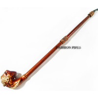 New Tobacco Pipe EXTRALONG DRAGON PIPE Smoking Pipe of Pear Wood Pipe 25'' Churchwarden Wooden Pipe. Exclusive Designed for pipe smokers