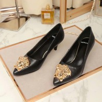 Versace Women Fashion Casual Pointed Toe High Heels Shoes-8
