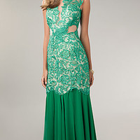 Lace Embellished Prom Dress by Temptation