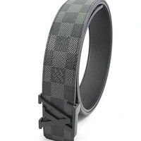 LV louis vuitton Damier Graphite Belt