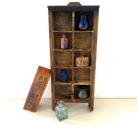 Wood Drawer or Curio Cabinet or a Wood Wall Shelf Display // Shadow Box with Chipped Old Paint