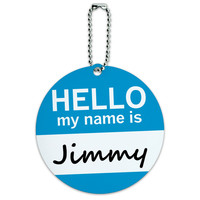 Jimmy Hello My Name Is Round ID Card Luggage Tag