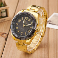 Males Classic Business Gold Sports Band Strap Watch Best Gift watches-451
