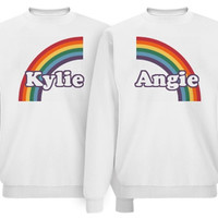 Best Friends Rainbow Matching Sweaters Jumpers