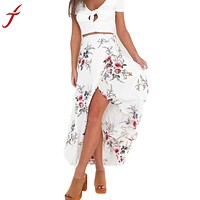Flower Printing Long Skirt