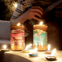 1 Kona Brewing Candle Unscented Pure Soy Wax, US Shipping Included