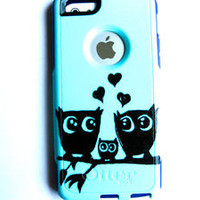 Custom Otterbox Commuter iphone 5C Case Sparkly owl case