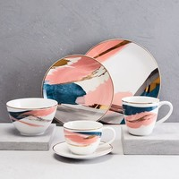 Abstract Brushstroke Dinnerware