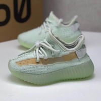 adidas Yeezy Boost 350 V2 Hyperspace Toddler Kid Running Shoes Child Low Top Sneakers - Best Deal Online