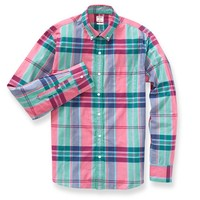 Summer Weight Shirt - Red & Green Plaid