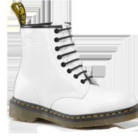 Dr Martens 1460 WHITE SMOOTH - Doc Martens Boots and Shoes