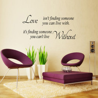 Wall sticker LOVE for home decorations living room bedroom DIY wall art decals removal PVC waterproof Wall paper