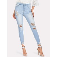 Time Out  Ripped Jeans - Blue