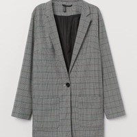 Checked Jacket - Gray/checked -   H&M US