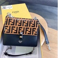 Fendi 2020 New Embossed Letter Women's Handbag Shoulder Bag Crossbody Bag