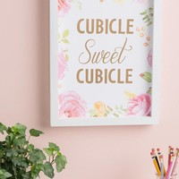 Cubicle Sweet Cubicle Floral Wall Decor