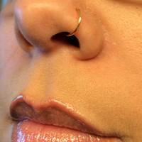 2 Gold Nose Ring Fake Body Piercing