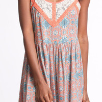 Beam Me Up Sun - Summer Dress - She + Sky - Coral