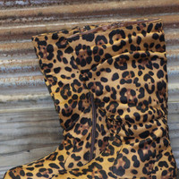 girls leopard boots