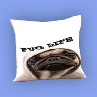 Funny Pug Life for Pillow Case, Pillow Cover, Custom Pillow Case **
