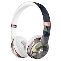Slate Gray Geometric Triangles Full-Body Skin Kit for the Beats by Dre Solo 3 Wireless Headphones