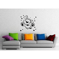 Wall Sticker Vinyl Decal Cute Dog Puppy Animal for Kids Nursery Pet Unique Gift ig1231
