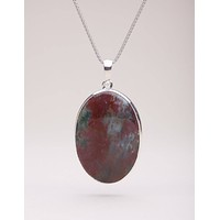 Bloodstone Pendant Necklace