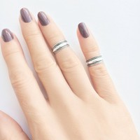 Sterling Silver Midi Ring •  Silver Toe Ring • Midi Ring • Boho Ring • Stacking Rings • Knuckle Ring • Sterling Silver Ring