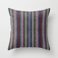 Baroque lines Throw Pillow by Tony Vazquez