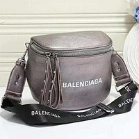 Balenciaga Fashion Leather Crossbody Shoulder Bag Satchel